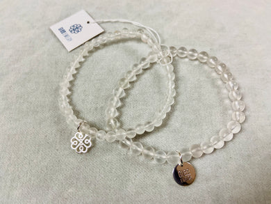 Glee - Stackem Up Bracelet, Silver/Natural Crystal