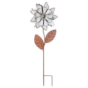 Evergreen - Classic Glow in the Dark Galvanized Floral Garden Stake