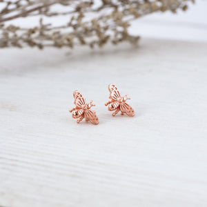 Glee - Bee Love Studs, Rose Gold