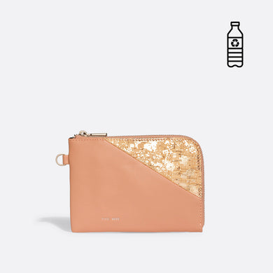 Pixie Mood STACY Wristlet - Apricot/Metallic Rose