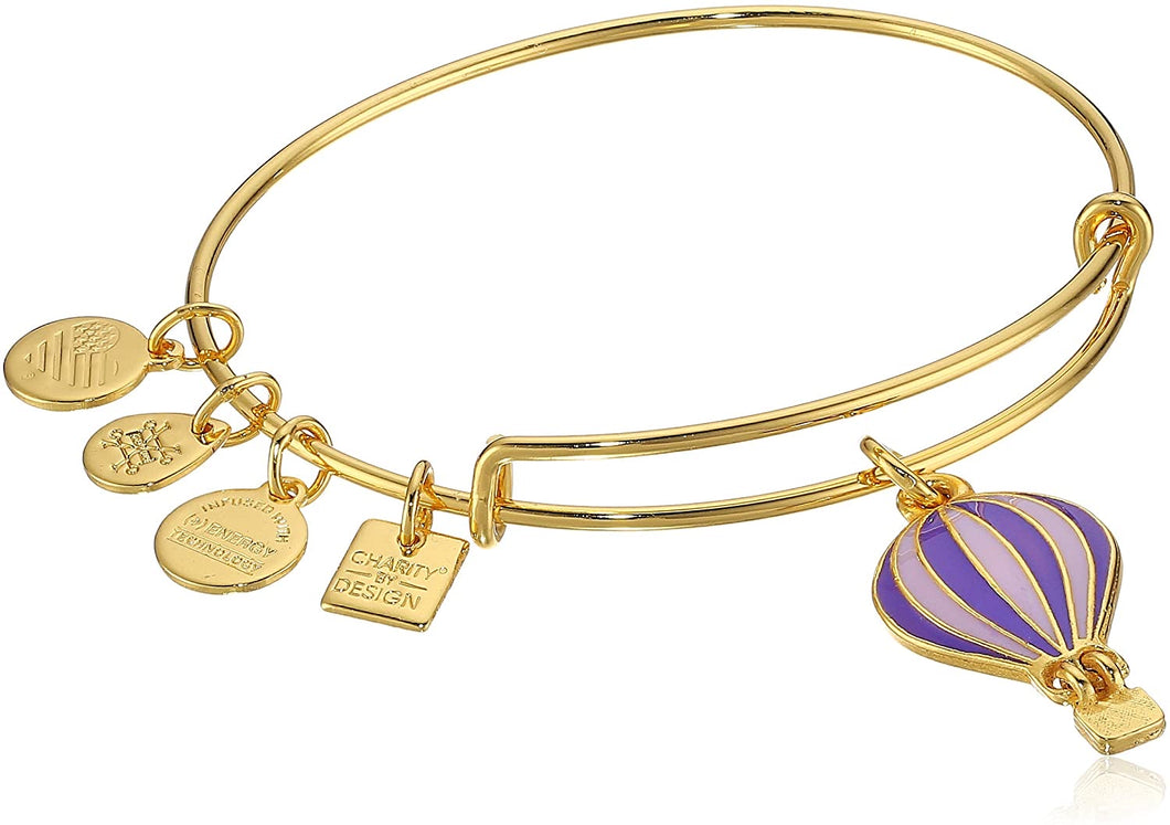 Alex and Ani - We Rise Expandable Charm Bangle, Gold Finish