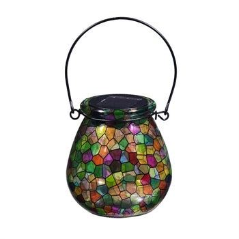 Evergreen - Kaleidoscope of Light, Solar Glass Lanterns