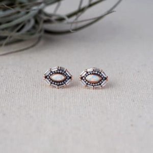 Glee - Dreamer Studs, Rose Gold / Opal