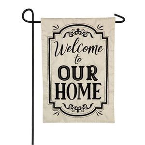 Evergreen - Welcome to Our Home House Applique Flag
