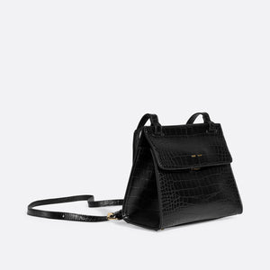 Pixie Mood CHRISTY Crossbody - Black Croc