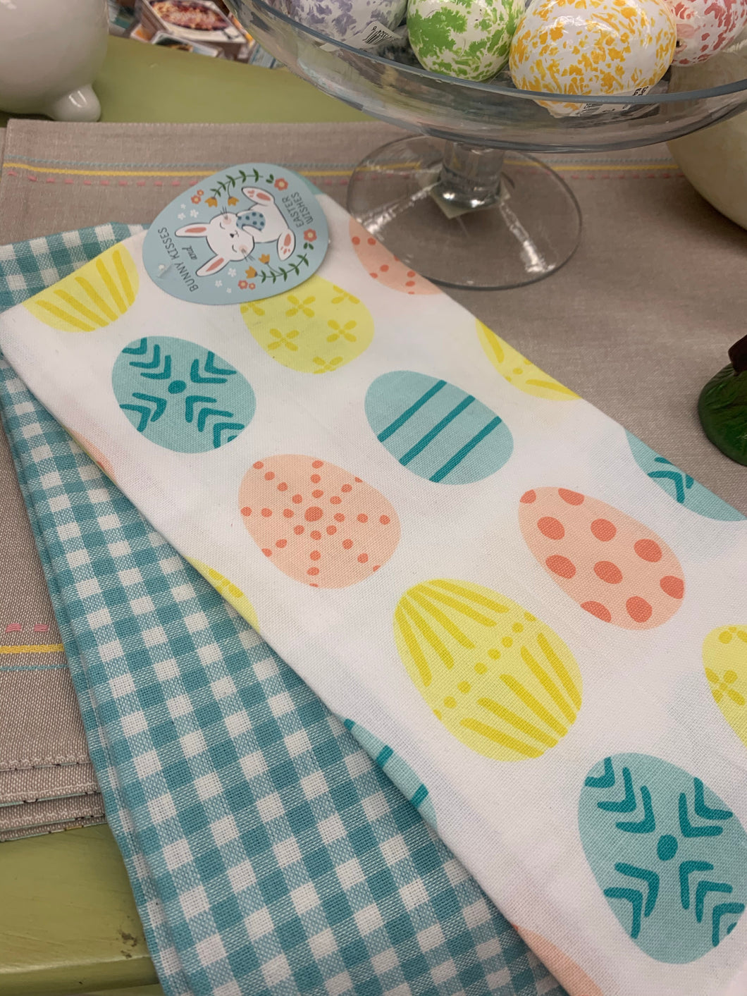 Easter Egg Dishtowel Set of 2