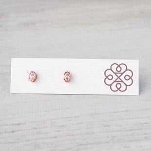 Glee - Orion Studs, Rose Gold/Clear