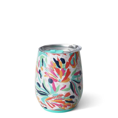 NEW Wild Flower SWIG Insulated Stemless Wine Cup 14onz