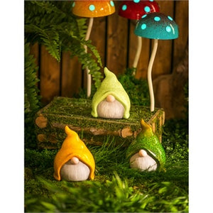 Evergreen - Ceramic Small Gnome Garden Statuary