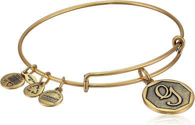 "Alex and Ani -Letter ""G"" Expandable Charm Bangle, Gold Finish"