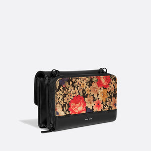 Pixie Mood JANE Bag - Dark Floral Cork/Black