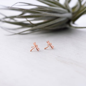 Glee - Dragonfy Studs, Rose Gold