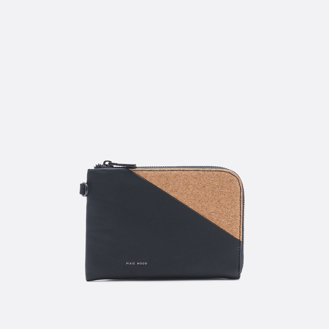 Pixie Mood STACY Wristlet - Black Cork