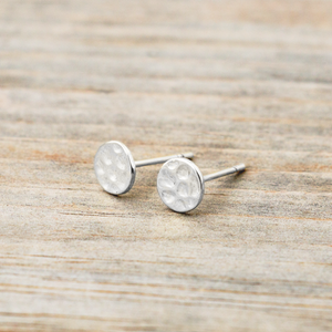 Glee - Full Moon Studs, Silver