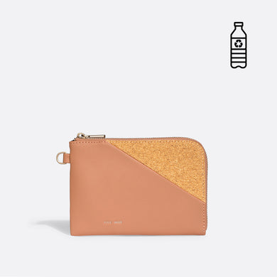 Pixie Mood STACY Wristlet - Apricot/Cork