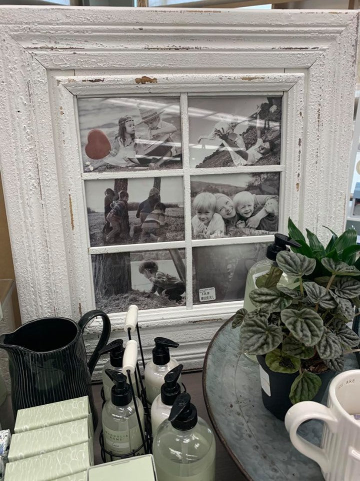 White Wash Window 6 Frame -  Picture Frame