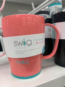 Coral SWIG Insulated Mug 18onz