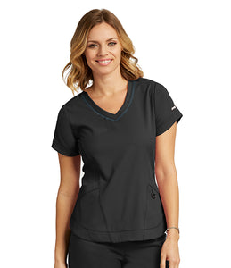 Grey's Anatomy Impact: Seamed V-Neck Top