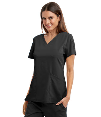 Grey's Antaomy Signature Women's V-Neck Laced Sleeve