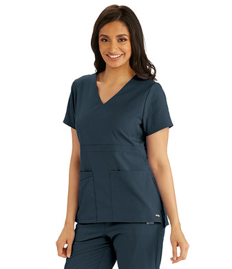 Grey's Anatomy Women's Empire Back Button Top