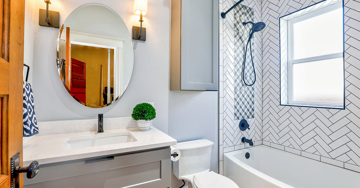 Turn any size bathroom into your personal oasis: because you deserve it!