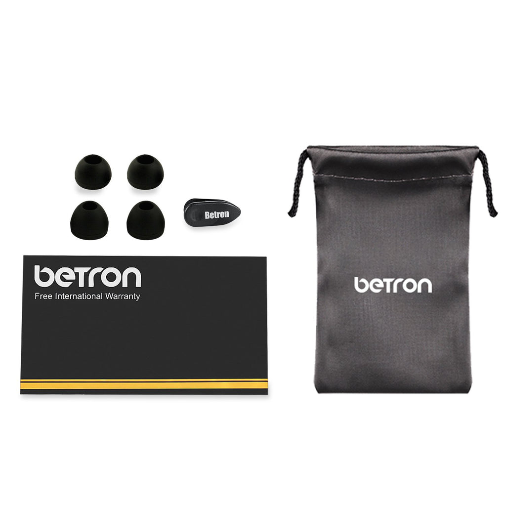 Betron DC950 Headphones Earphones, Noise Isolating, Bass Driven, High Definition (Black)