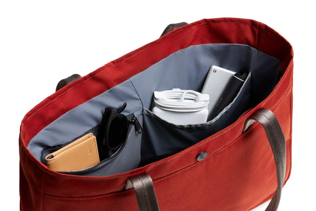 "Bellroy Classic Tote (15 liters, 15"" Laptop, spare jacket, headphones, wallet, phone) - Red Ochre"