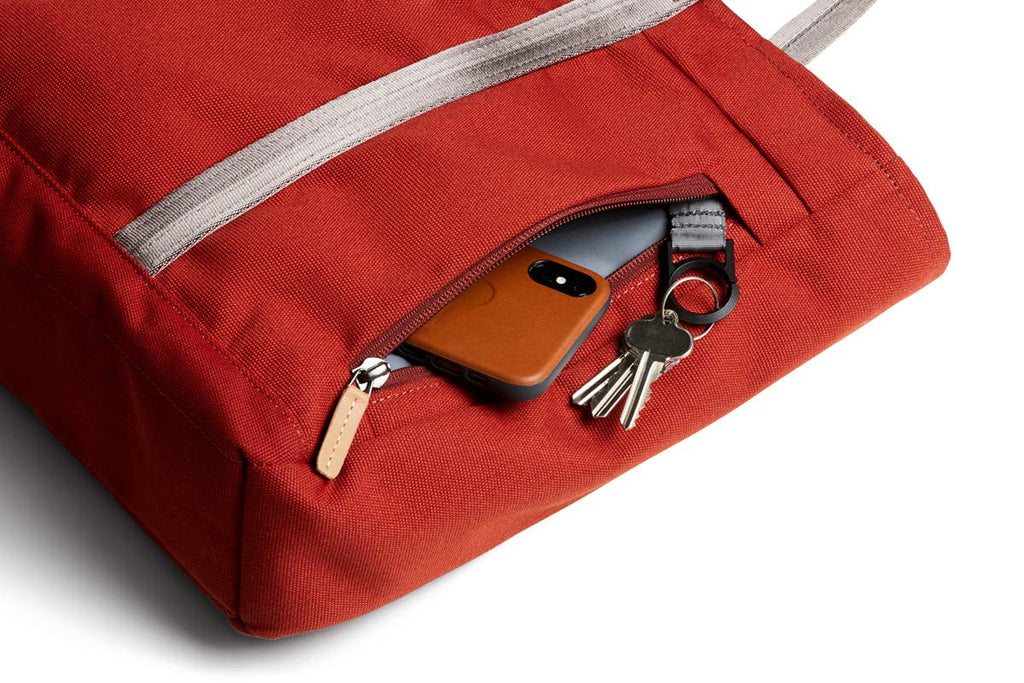 "Bellroy Classic Tote (15 liters, 15"" Laptop, spare jacket, headphones, wallet, phone) - Red Ochre - Bleisure Travels"