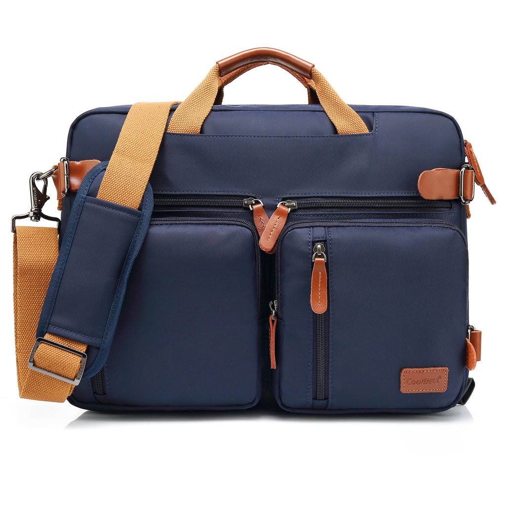 CoolBELL Convertible Backpack Shoulder bag Fits 17.3 Inch Laptop (Dark Blue)