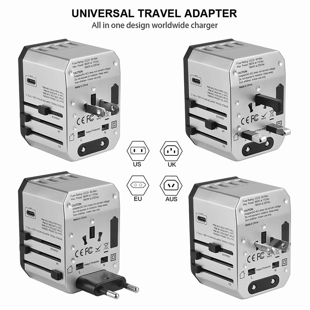 CleverTripsTM Universal Travel Power Adapter All in One Worldwide International - Bleisure Travels