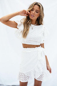 Boil Fabric Crop Top Set