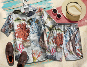 2019 Marine creature Hawaiian Shirts 100% Cotton