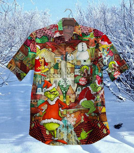 2020 Hot Grinch Stole Christmas Vintage Hawaiian Shirt