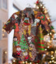 2020 Hot Christmas Time Dog Vintage Hawaiian Shirt 100% Cotton