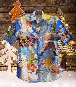 2019 Santa Claus Vintage Hawaiian Shirt 100% Cotton