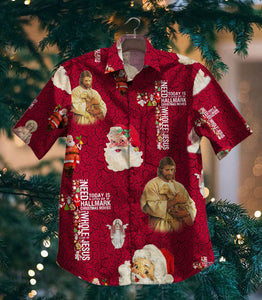 2020 Hot Jesus And Santa NV Vintage Hawaiian Shirt