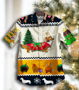 2020 Hot Daachshund Christmas GT Vintage Hawaiian Shirt