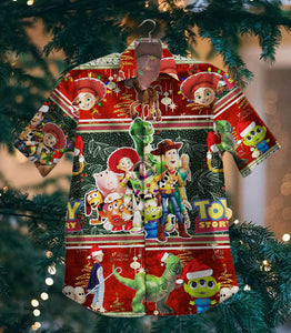 2020 Hot Toy Story Christmas NVVIEN Vintage Hawaiian Shirt