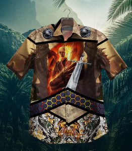 The Witcher 200103NMN-005BL Vintage Hawaiian Shirt