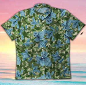 Camo Flower GT1169 Vintage Hawaiian Shirt