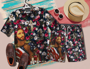 Veteran Jesus 1517 Vintage Cotton Hawaiian Shirt
