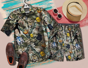 Star Wars Skull 1422 Vintage Cotton Men's Hawaiian Shirt