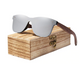 2019 Mens Sunglasses Polarized Walnut Wood Mirror Lens Sun Glasses