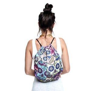 2019 New skull Drawstring Bag