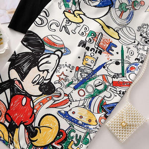 Pencil skirt 2019 Cartoon Print High Waist Slim Skirts