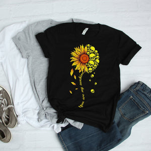You Are My Sunshine Skull Sunflower T-Shirt