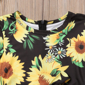 Summer Toddler Kids Baby Girl Sunflower 2019