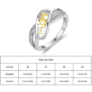 Beautiful Creative Love-Mum Letter Ring Mother's Day Gift