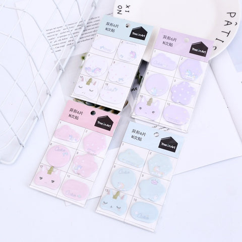 Kawaii Mini Unicorn Memo Pad