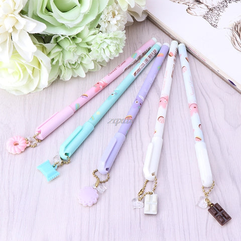 Kawaii Gel Ink Pen with Charm